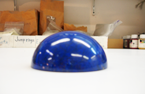 Photo of a very large Lapis cabochon