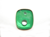 Picture of a green Onyx with 2 holes.