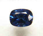 Picture of a cushion blue Sapphire.