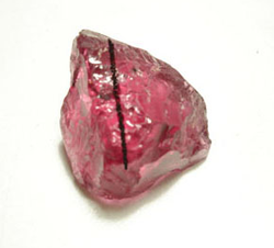 Photo of a large piece of pink Spinel.