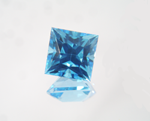 A square princess cut Blue Topaz.