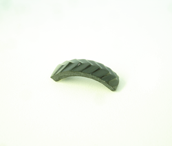 Shows the carved Black Jade which is ready to be glued into the ring.