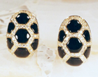 Small photo of earrings inlaid with several black Onyx.