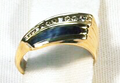 Ring inlaid with Meteorite.