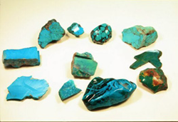 Picture of green rocks called Chrysocolla.