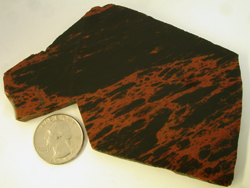A slab of Mahogany Obsidian.