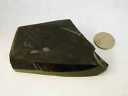 A chunk of black Obsidian.