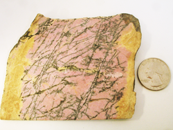 Rhodonite rough slab