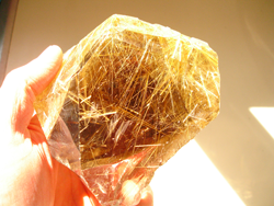 Another view of the Rutillated Quartz crystal.