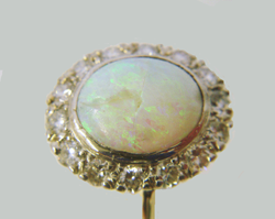 A closer view of the same Opal ring.