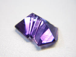 Another view of the repaired fantasy cut Amethyst.