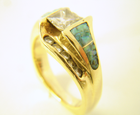 Photo of an Opal ring which needs the opal replaced.